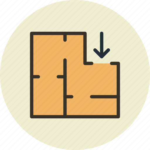 appartment, architectural, plan, scheme icon