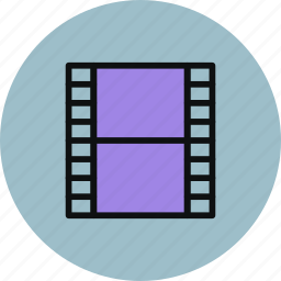 film, media, movie, strip, video icon