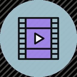 film, media, movie, play, strip, video icon