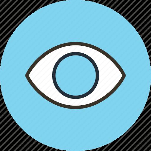 eye, view, views, watch icon