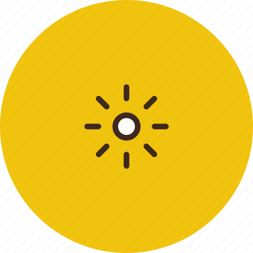 brightness, low, small, sun icon