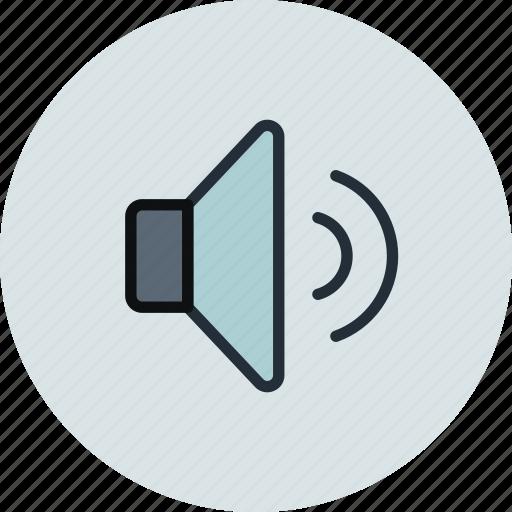 big, normal, sound, volume icon