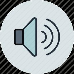 big, high, sound, volume icon