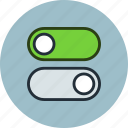 off, on, settings, switch, turn icon