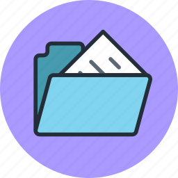 files, folder, storage icon