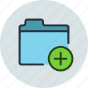add, files, folder, storage icon