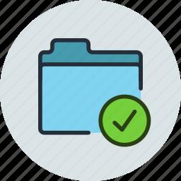 aprove, check, files, folder, storage icon