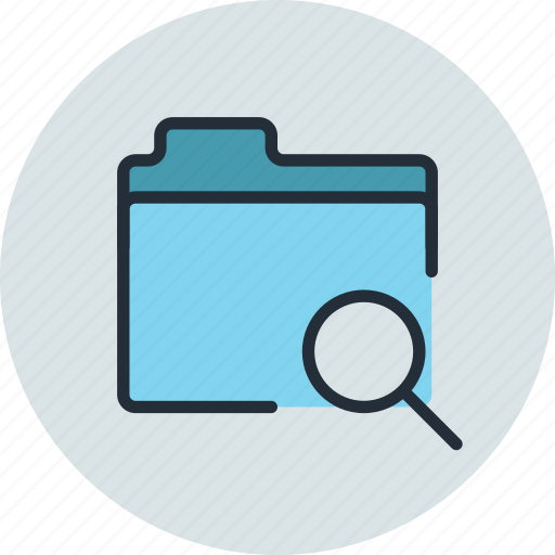 files, folder, search, storage icon