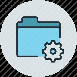 files, folder, settings, storage icon