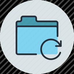 files, folder, refresh, reload, storage icon