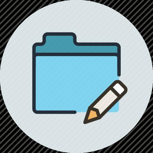 edit, files, folder, storage icon