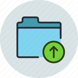 files, folder, storage, upload icon