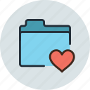 favorite, files, folder, storage icon