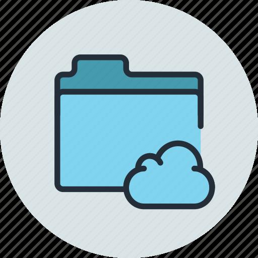 cloud, files, folder, storage icon