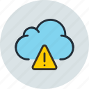 alert, cloud, data, storage, warning icon