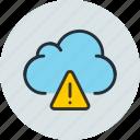data, warning, storage, cloud, alert