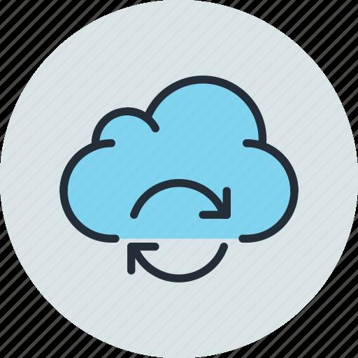 cloud, data, storage, sync, syncronization icon