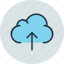 cloud, data, storage, upload icon