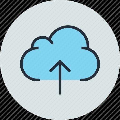 cloud, data, storage, upload icon