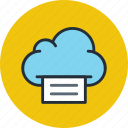 cloud, data, file, files, print, storage icon