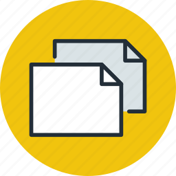 copy, document, file, horizontal, landscape, page, paper, sheet icon