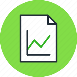 analytics, document, file, graphic, page, paper, sheet, statistics icon