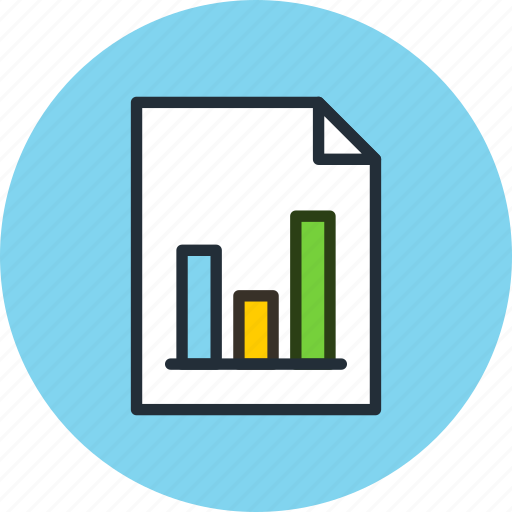 chart, document, file, graphic, page, paper, sheet, statistics icon