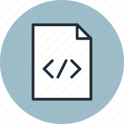 code, document, file, html, page, paper, sheet icon