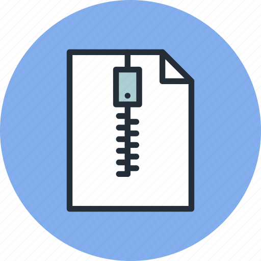 archive, document, file, page, paper, sheet, zip icon