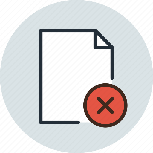delete, document, file, page, paper, remove, sheet icon