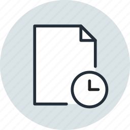 date, document, file, history, page, paper, sheet, time icon