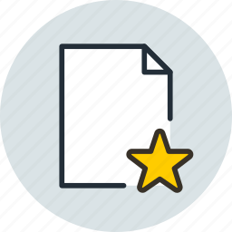 document, favorite, file, page, paper, sheet icon