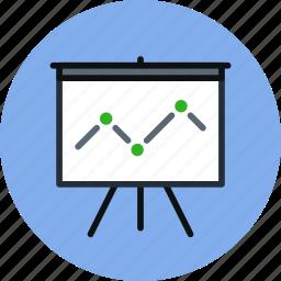 analytics, board, deck, presentation, promo, statistics, stats icon