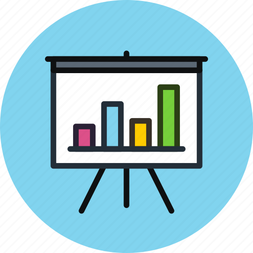 analytics, board, chart, deck, presentation, promo, statistics, stats icon