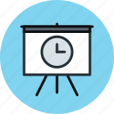 board, deck, delay, history, presentation, promo, time icon