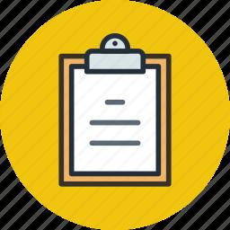 board, buffer, clip, clipboard, list, text icon