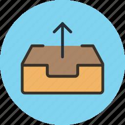 box, email, inbox, mail, mailbox, send icon