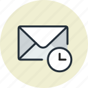 date, email, envelope, history, mail, remove, time icon