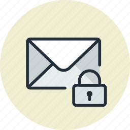 email, envelope, lock, mail, message, private icon