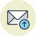 email, envelope, mail, message, receive, upload icon