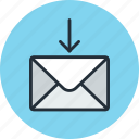 email, envelope, mail, message, receive icon