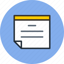 file, note, text icon
