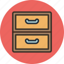 archive, cabinet, documents, drawer icon