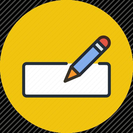 edit, fill, form, pencil, write icon