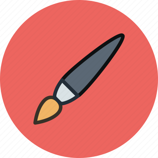 brush, paintbrush, tassel, tool icon
