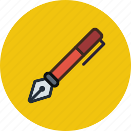 classic, ink, pen, retro, tool icon