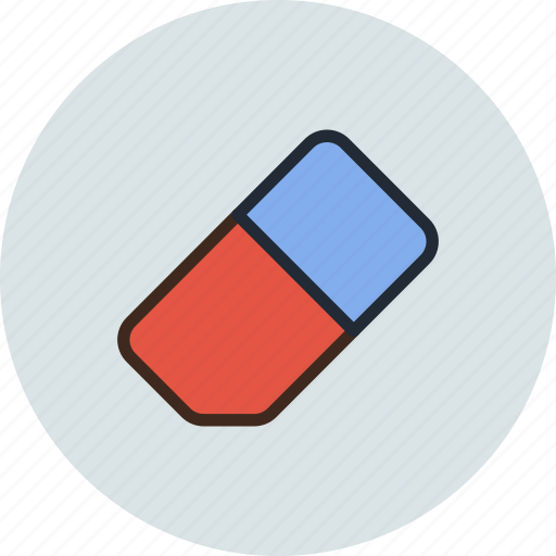 clean, clear, eraser, rubber, tool icon