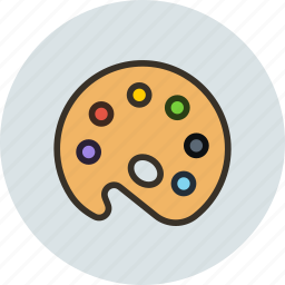 artist, color, colors, mixer, palette, tool icon