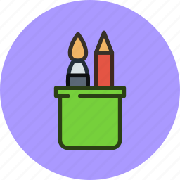 applications, brush, pen, tool, tools icon