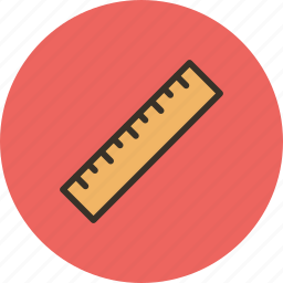 direct, measure, rule, ruler, scale, tool icon